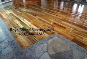 Reclaimed Barn Wood Flooring Installation Sanding Refinishing in Carefree Arizona