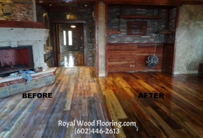 Reclaimed Hardwood Flooring Buff & Recoat